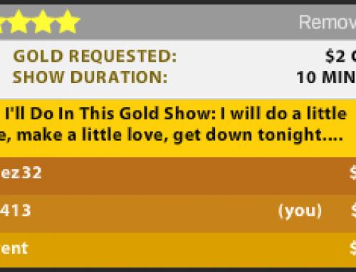 Streamate's Goldshow 'Highest Bidder'