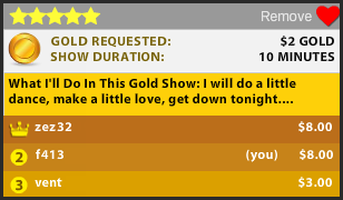 Goldshow highest bidder