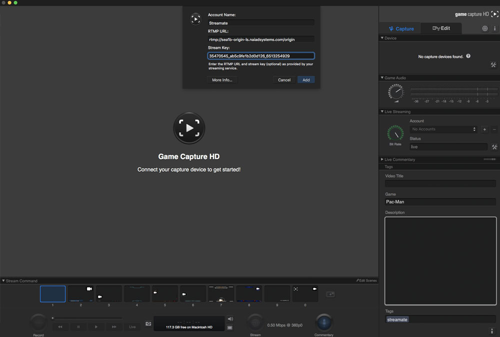 streamate elgato game capture